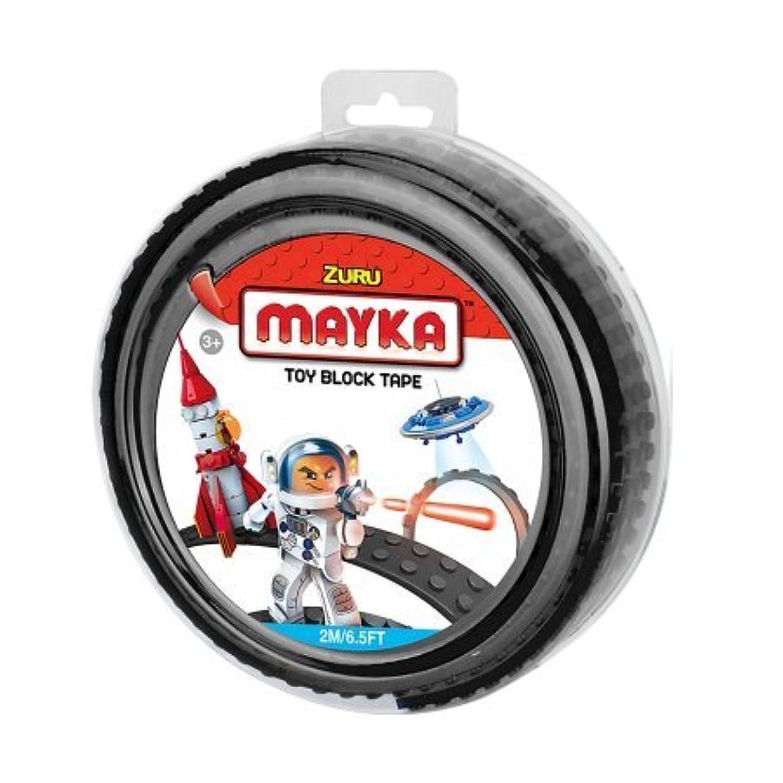 調整する凍った崇拝しますMaykaトイブロックテープ、4スタッド、6.5?Ft、ブラック、non-marking