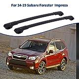 Ai CAR FUN Roof Rack Cross Bars Compatible for Subaru Forester Impreza 2014-2019, Aluminum Cargo Carrier Rooftop Luggage Bike Crossbars