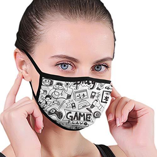 Juego consola computadora Graffiti estilo cara cubierta bandana caliente diadema cuello polaina – Multifuncional Headwear Anti-polvo bufanda transpirable máscara de enfriamiento tejido de punto