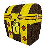 Lytio Treasure Chest Pinata (Battle Royale Loot) Pirate Themed Piñata Ideal for Gaming, Kids Birthday Parties, Center Piece or Photo Prop