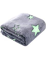 Glow in The Dark Throw Blanket Soft Flannel Fleece Blanket for Boys Girls
