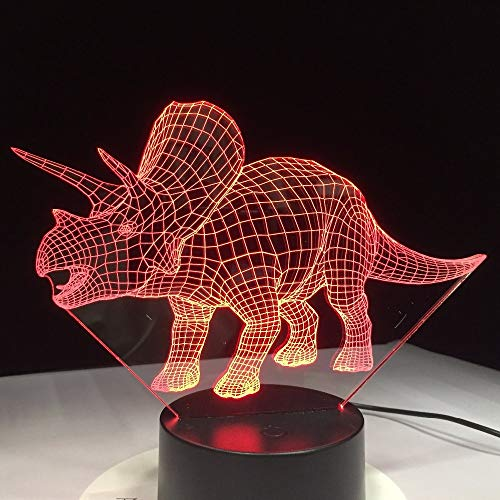 Dinosaur 3d Bulbing Light LED Lampada da notte Cambia colore Touch Switch Atmosphere Lampada da interno Infantil Nightlight