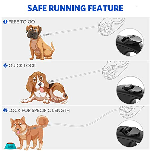 Peteast Retractable Dog Leash