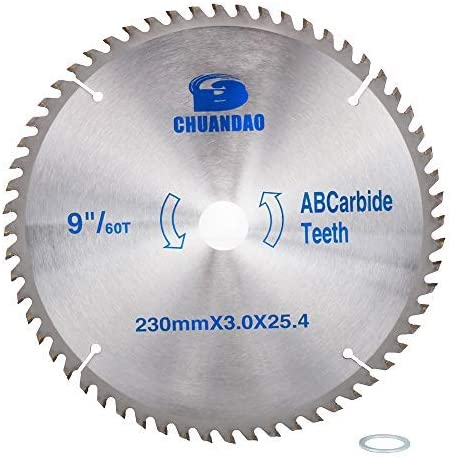9 inch 60 Tooth Great interest Wood Cutting Award-winning store Tipped Bl Carbide Circular Disc Saw