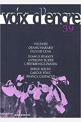 revue VOIX D'ENCRE 39 (French Edition) Paperback