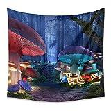 ZDDBD Tapiz de Setas de Colores decoración del hogar Dormitorio Sala de Estar L / 148X200cm (58'X79