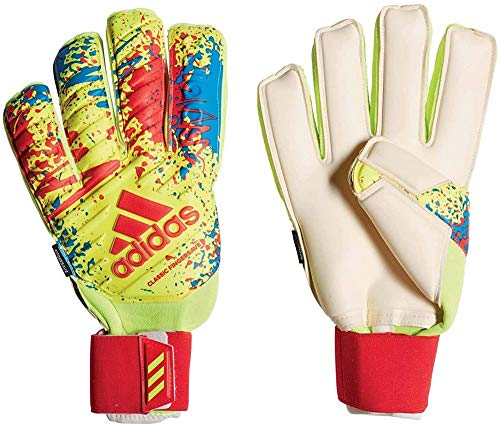 adidas Classic Pro FS Goalkeeper Gloves, Unisex Adulto, Solar Yellow/Active Red/Football Blue, 9