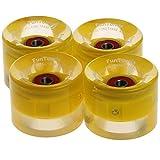 FunTomia 4X Miniboard/Skateboard LED Rollen 59x45mm inkl. MACH1...