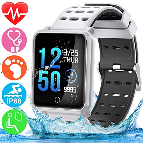 GBD Fitness Tracker HR,Sport Smart Watch IP67 Waterproof Activity Tracker with Heart Rate...