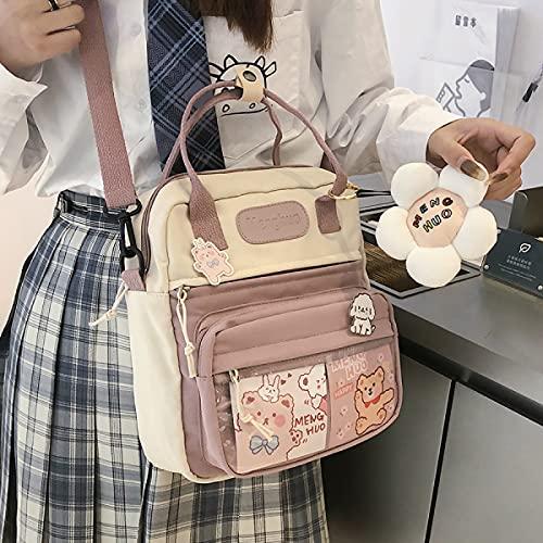Koreanische Art Nette Mini Rucksäcke Frauen wasserdichte Nylon Kleine Umhängetaschen für Teenager Schultaschen Blumen Reiserucksack