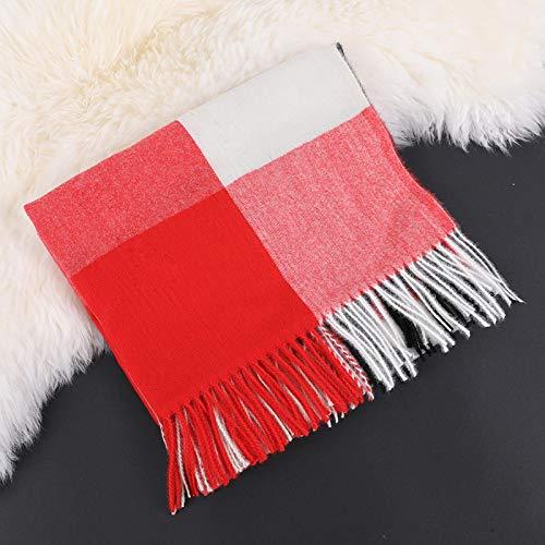 Design Strick Winterschal Für Frauen Pashmina Schal Wrap Geometric Female Warm Blanket Schals Quaste Stola Color5