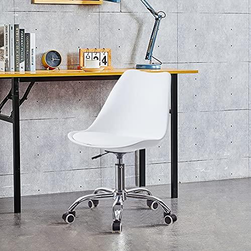 OFCASA Silla de escritorio Tulip silla de oficina con asiento acolchado, altura ajustable, silla de ordenador con respaldo, silla giratoria ejecutiva para el hogar o la oficina