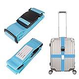 Linkax Koffergurt 2 Stück Gepäckgurt Einstellbare Kofferband Travel Accessories Kofferband...