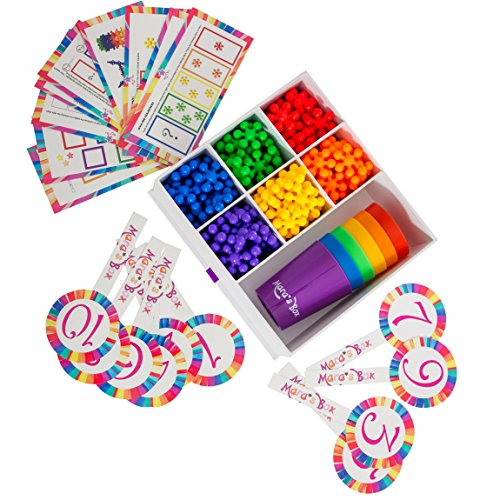Mara's Box Different Rainbow Counting Bears with Matching Sorting Cups, 146pc Set + Toy Storage + Activity Cards, Montessori and STEM Learning Game, Quality Educational Resources and Learning Toys
