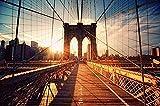 1000 pièces,Puzzles en Bois Jouets,Ponte di Brooklyn The Art Fashion Ersion Jigsaw Puzzle Regalo per Bambini Giocattoli educativi per adulti
