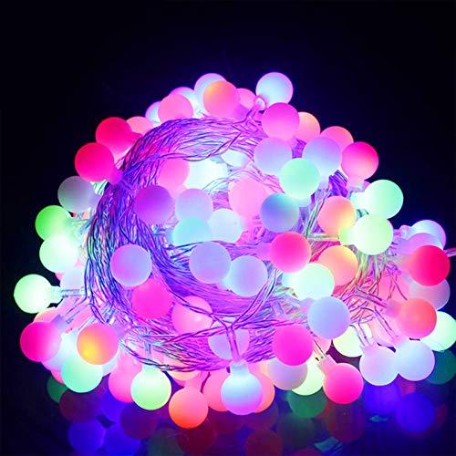 LED Kugel Lichterketten 10M/20M mit 200 LED Lichterkette Warmweiß Innen und Außen Lichterkette glühbirne Lichterkette für Weihnachten Hochzeit Party Weihnachtsbaum (colourful, 10M)