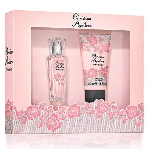 Christina Aguilera - Definition - Coffret Eau de Parfum Femme Vaporisateur & Gel Douche - Senteur Orientale et Florale