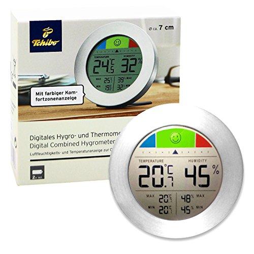 Tchibo TCM Digitales Hygro - und Thermometer Temperatur Luftfeuchtigkeit