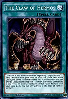 Yu-Gi-Oh!! - The Claw of Hermos (DRL2-EN013) - Dragons of Legend 2 - 1st Edition - Secret Rare