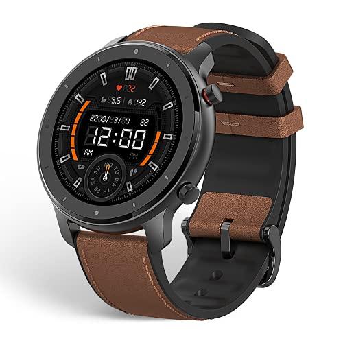 Amazfit Mens GTR Smartwatch, Aluminium