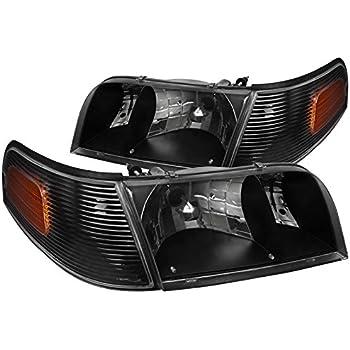 DNA Motoring HL-OH-066-BK-AM Pair Black//Amber Headlight For 06-11 Mercury Grand Marquis