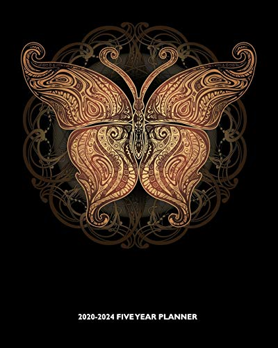 2020-2024 Five Year Planner: Mystical Golden Butterfly | Celtic Pattern | 60 Month Calendar and Log Book | Business Team Time Management Plan | Agile ... 5 Year - 2020 2021 2022 2023 2024 Calendar)