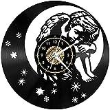 Angel Vinilo Record Reloj de Pared LED Luces de Pared Luz de Noche Lámpara de Pared Hecho a Mano Decoración La Mejor Idea de Regalo