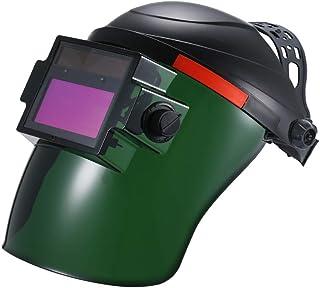 Festnight Casco para soldar con oscurecimiento automático y energía solar Máscara para soldar con oscurecimiento automático