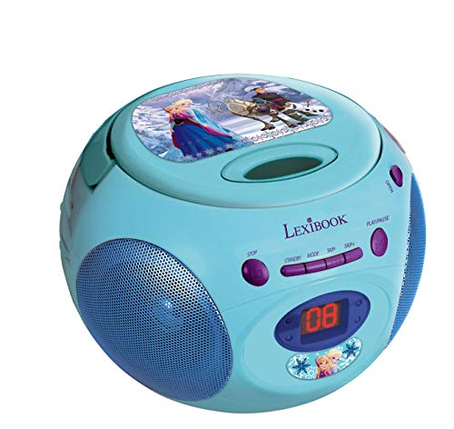 Disney Frozen-RCD102 Frozen Reproductor De CD Portatil (Lexibook Rcd102Fz), Color Azul/Verde
