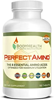 BodyHealth PerfectAmino Tablets (1PK), All 8 Essential Amino Acids with BCAAs + Lysine, Phenylalanine, Threonine, Methioni...