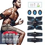 Abs Stimulator EMS Muscle Toner OSITO Rechargeable Abdominal Trainer with 10 Extra Gel Pads Fitness Gear for Ab Workout Equipment