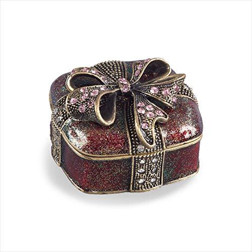 SARO LIFESTYLE Bejeweled Present Gift Aufbewahrungsbox, Porzellan, rot, 2.6