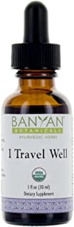 Banyan Botanicals I Travel Well Liquid Extract, USDA Organic, Ayurvedic Herbal Formula Designed To Support The Body's Natural Ability To Adapt To The Stresses Of Travel Including Changes In Time Zone.