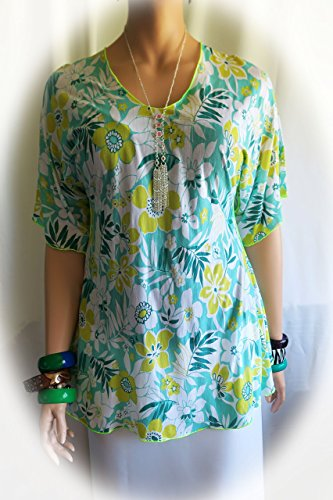 Hawaiian Lite Breeze Tropical Polynesian Women's Thin Summer Shirt, top, cover-up- Fits M to Large - Made in Hawaii