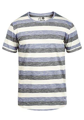 !Solid Thicco Herren T-Shirt Kurzarm Shirt Mit Streifen Und Rundhalsausschnitt 100{7194c8278e1c79550bd6417884d8fcdcefb38150c42a8ff86d330338975a0165} Baumwolle, Größe:XL, Farbe:Marlin (2800)
