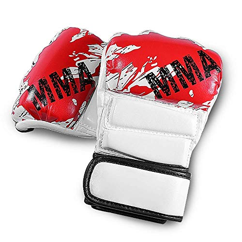 Leilims Boxhandschuhe Handschuhe Body Combat Kick Grappling Sparring Training UFC Cage Fighting Mitts for Kickboxen Sparring (Farbe: Schwarz, Größe: M) boxhandschuhe kinder