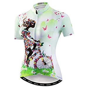 Cycling Jerseys weimo Women Cycling Jersey Short Sleeve Breathable Biking Shirt