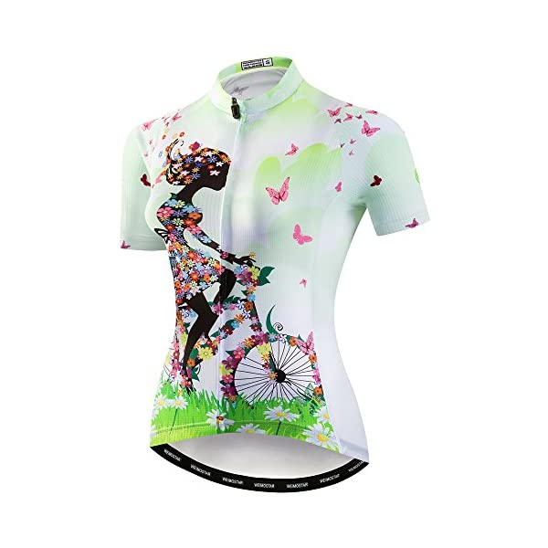 Cycling Jerseys weimo Women Cycling Jersey Short Sleeve Breathable Biking Shirt [tag]