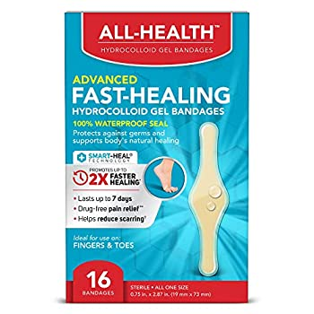 All Health All Health Advanced Fast Healing Hydrocolloid Gel Bandages Fingers & Toes 16 ct | 2X Faster Healing for First Aid Blisters or Wound Care
