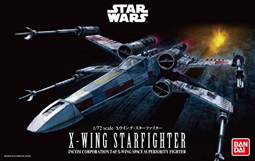 Bandai X Wing Fighter-Bandai-01200 Star Wars Luke Skywalker Maquette, 1200, Gris, 1/72
