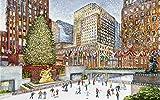 Nautilus Puzzles - Rompecabezas de madera para patinadores de hielo en Rockefeller Center, 249 piezas de madera únicas