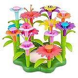 Regali per 3 4 Ragazze di 5 anni Bambini, Kit di costruzione di giardini da giardino Giocattoli per bambini 2-7 anni Ragazza per bambini Bouquet educativo Set da gioco floreale per bambini di 3-8 anni