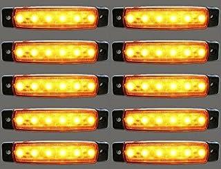 10er LED Blinker Seitenleuchten für LKW Bus Trailer Indikatoren Lichter Seitenmarkierungsleuchte 12V