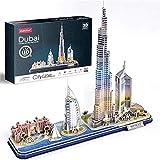DIY Puzzle 3D De Dubai Kit de Construcción de Dubai Ciudad Juguetes LED Modelos Decoración De Mobiliario Exquisita, Adecuado para La Colección (182Pcs)