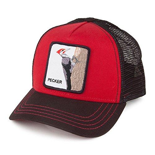 Goorin Casquette Trucker Pecker Rouge-Noir Taille Unique
