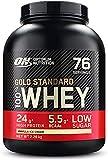 Optimum Nutrition Gold Standard 100% Whey Protéine en Poudre avec Whey Isolate, Proteines Musculation Prise de Masse, Vanille Crème Glacée, 76 Portions, 2.28kg, l'Emballage Peut Varier
