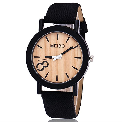 Frauen Uhren Clearance Mode Modellierung Holz Quarz Uhr Elegante Business Casual Holz Farbe Leder Uhr