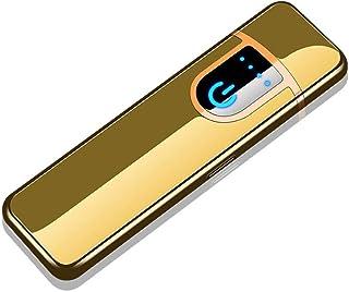 HDHL mecheros Inteligente Personalidad táctilUSB deCarga más Ligero a Prueba de Viento de inducción táctil Cable Calefactor EncendedorJinBing