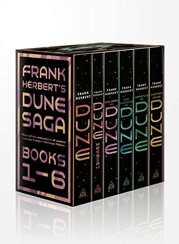 Frank Herbert s Dune Saga 6 Book Boxed Set Dune Dune Messiah Children of Dune God Emperor of product image