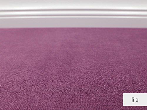 HEVO Die Vorwerk Bijou Kollektion - Bijou Uni Teppichboden in 16 Farben Mustermaterial - Inkl. 2% Bestellgutschein - Lila